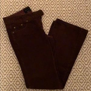 Size 8 Brown Corduroy Limited pants.